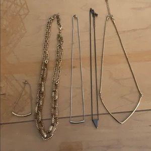 H&M necklaces and bracelet